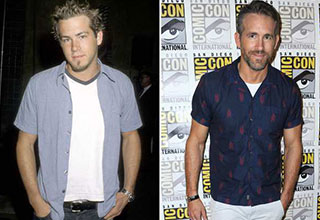 ryan reynolds then and now
