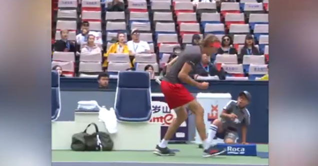 tennis player alexander zverev fist pumps and ball boy thinks hes about to  get punched shanghai dca786d23
