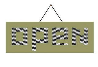 open sign optical illusion