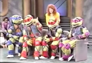 Teenage mutant ninja turtles on Oprah