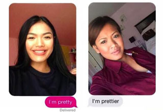Mom saying she's prettier then her daughter.