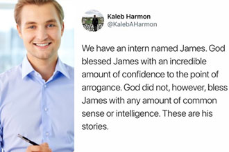 James will run the company someday.