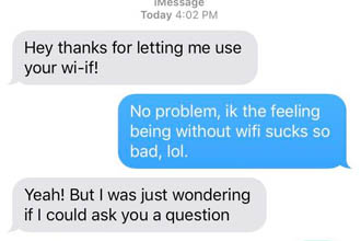 What a jerk.