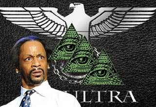 Katt Williams looking surprised. MK ultra logo.