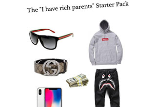Starter packs to get you started. Here are all the items you'd associate with a number of stereotypical archetypes. A whole foods employee, a rich kid, that girl you knew in high school– All will be boiled down to their core components. It's not to be mean, it's all in good fun. Have yourself a laugh at these dead accurate starter packs.