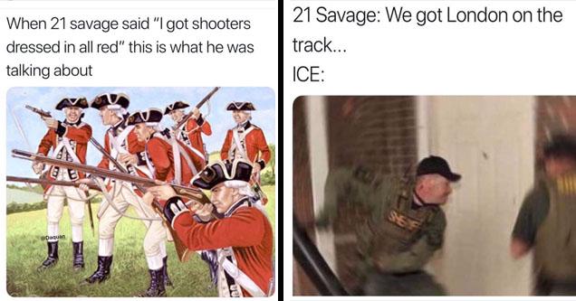 30 amazing memes about 21 savage s british background funny gallery 30 amazing memes about 21 savage s