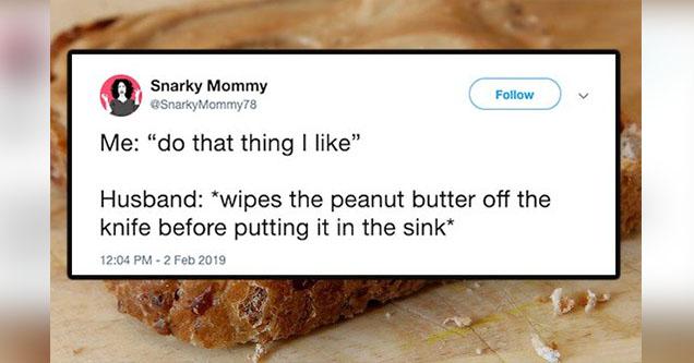 Peanut butter. Tweet.