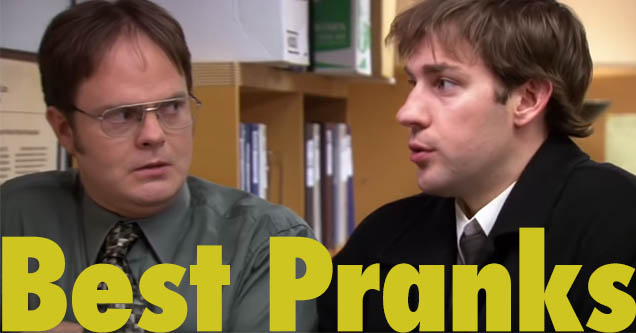 Jim Halpert looks away as Dwight Schrute stares at him during a scene from