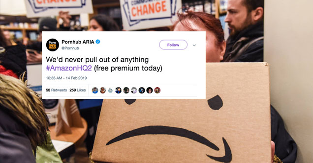 A tweet about pulling out on amazon.