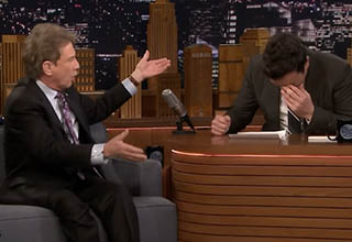 Martin Short roasts Jimmy Fallon during an episode of The Late Show Starring Jimmy Fallon