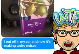 People have taken to telling pops that they put the wrong kind of oil in their vehicle. Watch some dad's freak out. Clearly their kids had it in for them. Hilarious text exchanges with fathers may inspire you to do some dad trolling of your own. 22 people had hilarious ones and we've compiled them all here for you.