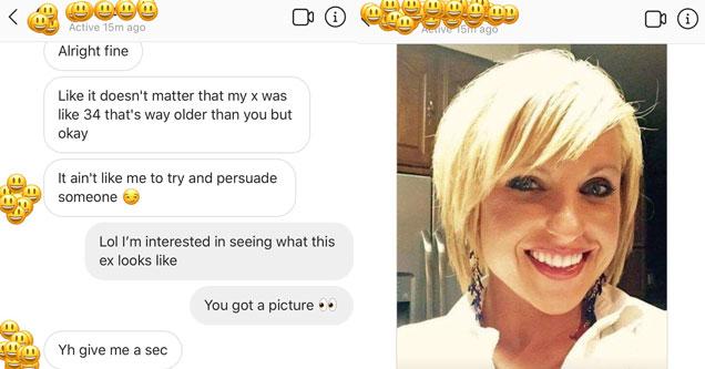 screenshot of a conversation on a dating app