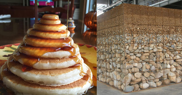 Perfectly stacked pancakes and a cross section of earth