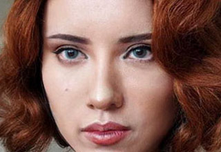 a photo of a chinese makeup artist who made herself look like scarlett johansson