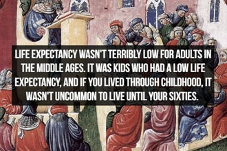 A fact about medieval times.