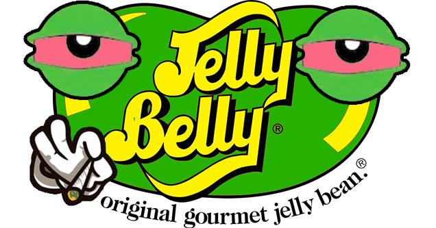 Jelly Belly high on weed.