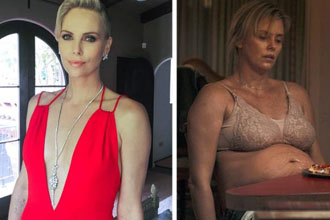 Charlize Theron looking all fat.