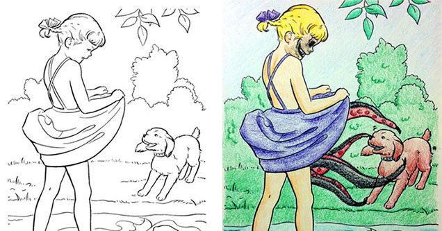 20 Coloring Book Pictures that Got Turned Naughty