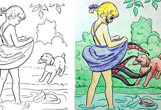 Coloring books are for kids, so when adults get their hands on one things can get dirty.