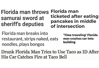 Florida Man Challenge headlines, reactions, and memes from Twitter