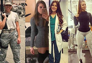 These ladies are dressed to kill. Doctors, soldiers and more in uniform and more... casual clothing. These ladies kick ass!