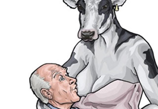 Peta always has to get completely ridiculous to prove a point, and this time was no different.  Check out these funny responses and tweets to PETA's bizarre cow breastfeeding an old man meme and wonder... WTF were they thinking?