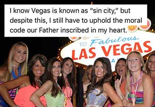 Vegas is gonna be a Christian good time! After a bride was badgered to invite a debbie-downer to her bachelorette party, she quickly learned why that was such a bad idea in the first place. If you get invited to a friends weekend, DON'T DO THIS.