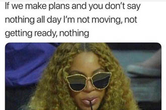 A meme about making plans.