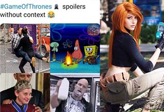 game of thrones spoilers and a lady dressed like kim possible