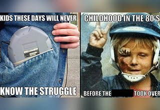 Throwback Thursday memes showing what life was like back in the '80s and '90s