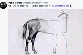 game of thrones horse drawing