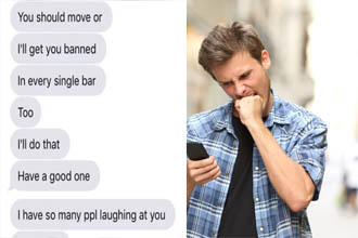 This girl sent a pretty direct and kind text saying she didn't think their date went well and this guy proceeded to lose his entire mind via text.