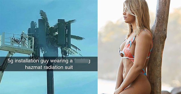 a picture of woman in a bikini and a meme