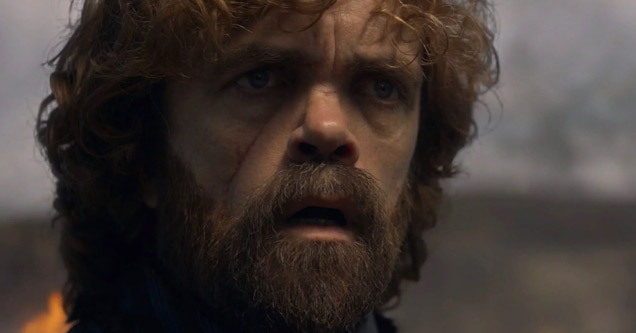 a photo of peter dinklage from game of thrones season 8 episode 5