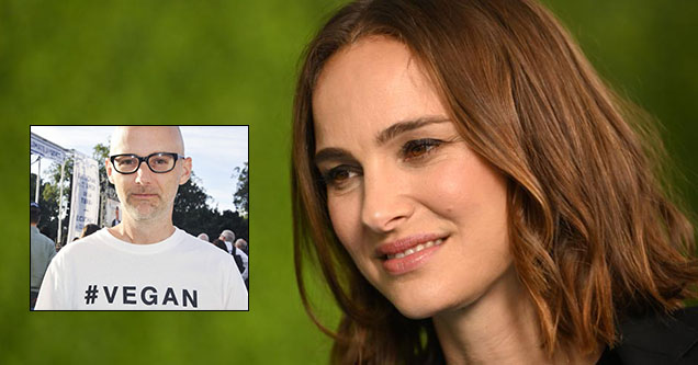Natalie Portman looks at Moby in disgust after he claimed they dated in his new memoir.