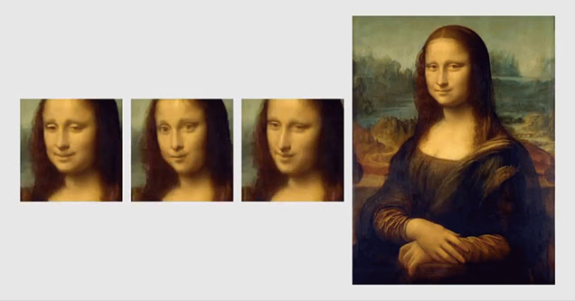 Mona Lisa deepfake using only a single image with samsung's new ai