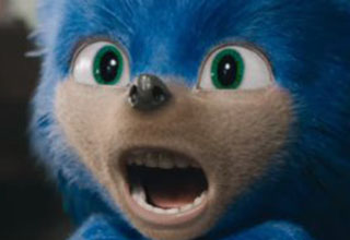 The original design for Sonic the Hedgehog - the movie has been pushed back to 2020 to redesign him.