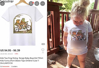 Yeah, this isn't the shirt this mom bought her daughter, but thanks for trying China!
