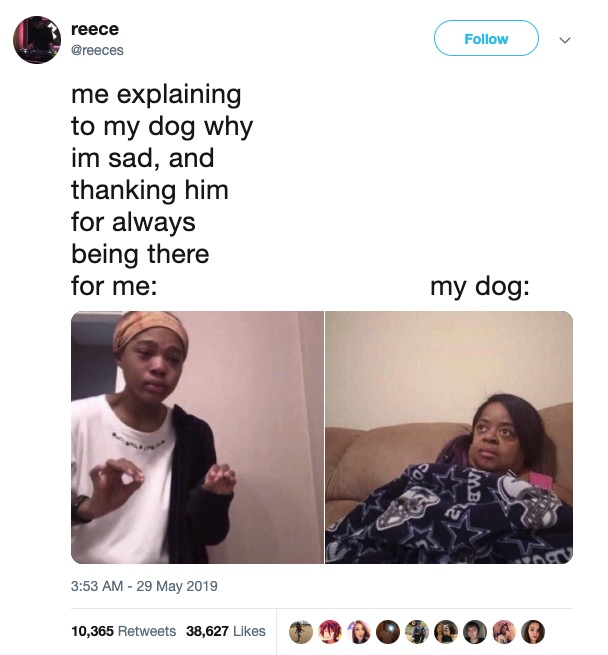 People are combining a picture of Viner Quen Blackwell with a picture of Miss Juicy from 'Little Women: Atlanta' to create an incredibly relatable meme.