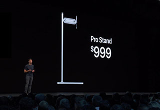 "In the most Apple move ever, the company unveiled its new $999 dollar monitor stand at WWDC 2019. It's <a href=https://knowyourmeme.com/memes/apple-pro-stand-999-price>getting roasted online and has quickly become a meme</a> making funny comparisons to other things you could buy with a thousand dollars. If you buy the base model Mac Pro, one Apple monitor, and the Apple Pro Stand you're going to have to drop $11,000.  <br><br> Also, check out <a href=""https://www.ebaumsworld.com/pictures/mac-pro-looking-like-a-cheese-grater-memes-and-reactions/85978180/"" target=""_blank"">16 Memes About How The New Mac Pro Looks Like a Cheese Grater</a>."