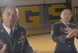 us army cadets make a rap recruitment video