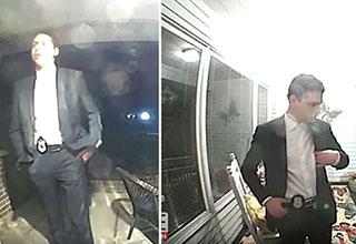 high school kid goes around door to door pretending to be a cop