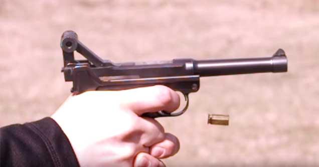 a gun misfiring in slow motion