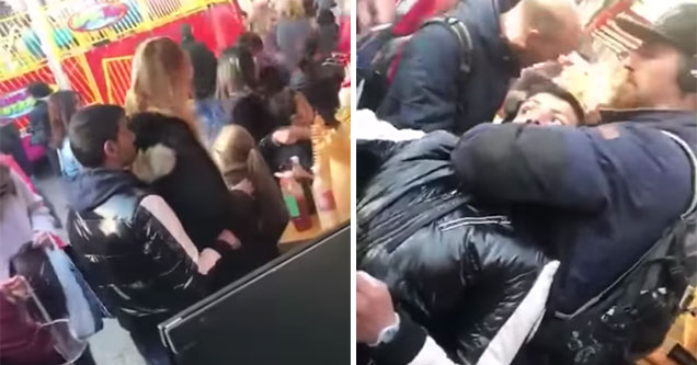 pick pocket caught in the act by German police