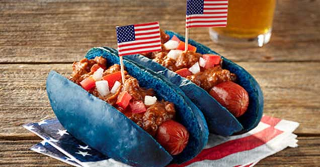 Have we gone too far?  Red, White and Blue Burgers, Fourth of July Pizza, and what is with the Mac and Cheese? Why do we do this? If it's edible, we seem to make it America for the Fourth. Would YOU eat these? Have they gone too far? You decide.