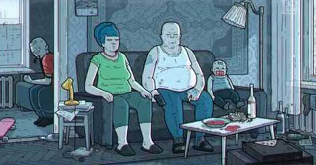 """Russian Art House Version Of """"The Simpsons"""" Intro Is As Bleak As It Sounds"""
