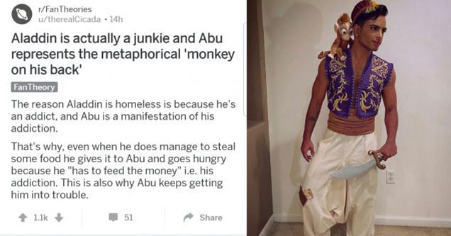 wtf fan theory about the the truth of Aladdin