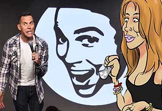 Steve-O onstage talking about doing cocaine with Lindsay Lohan