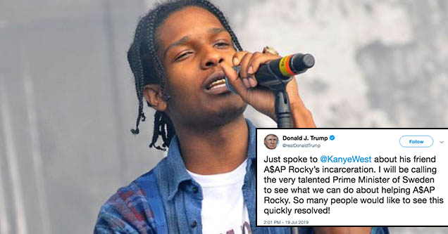 Image result for donald trump twitter A$A ROCKY