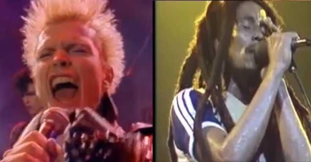 Billy Idol and Bob Marley